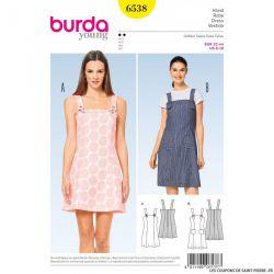 Patron Burda n°6538 : Robe à bretelle