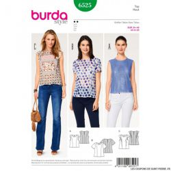 Patron Burda n°6525:  Top simple
