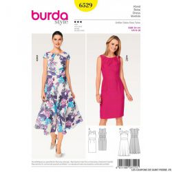Patron Burda n°6529: Robe chic