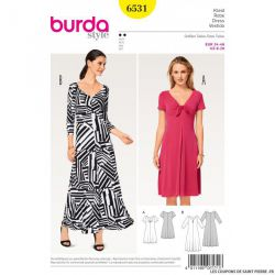 Patron Burda n°6531: Robe cintrées