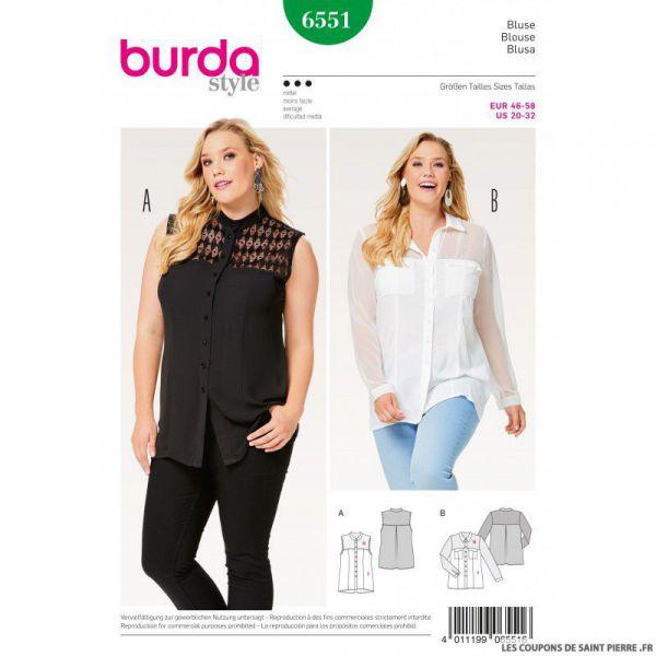 Patron Burda n°6551 : Blouse élégante