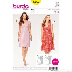 Patron Burda n°6554 : Robe - Petites tailles