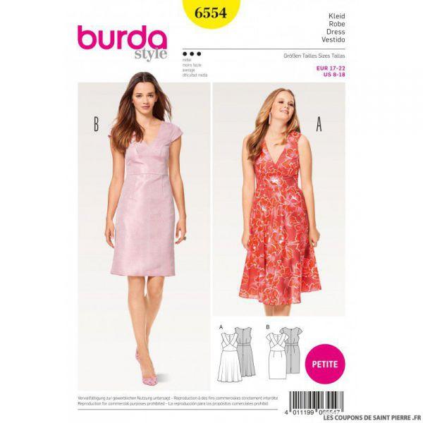 Patron Burda n°6554 : Robe - Petite taille