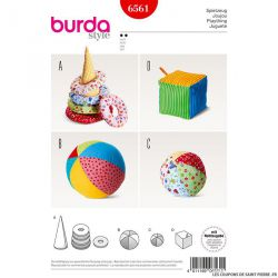 Patron Burda n°6561: Jeux enfant en tissu