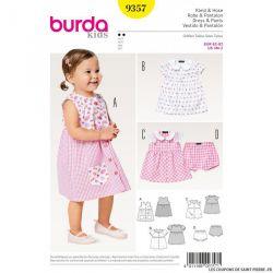 Patron Burda n°9357: Robe & Pantalon enfant