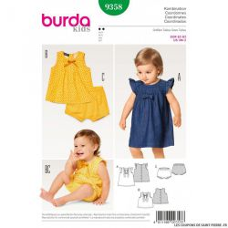 Patron Burda n°9358: Robe fluide et culotte