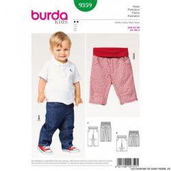 Patron Burda n°9359: Pantalon à poches enfant