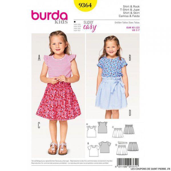 Patron Burda n°9364: Tee-shirt enfant