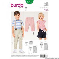 Patron Burda n°9365 : Pantalon enfant