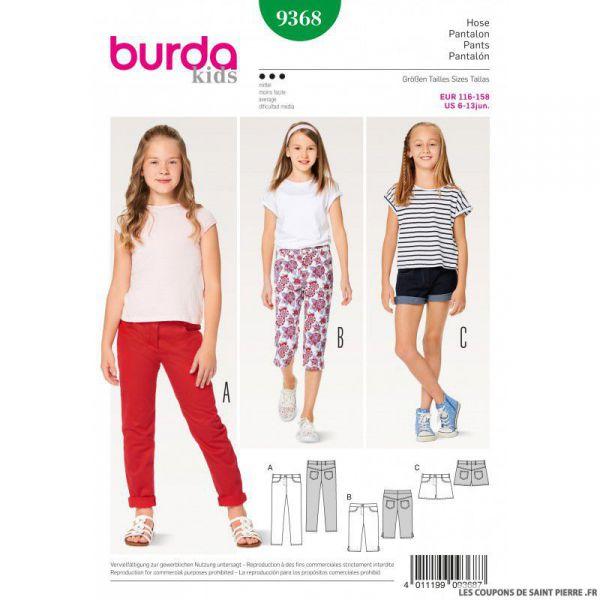 Patron Burda n°9368: Pantalon enfant
