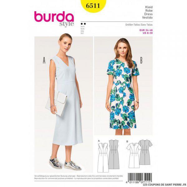 Patron Burda n°6511 : Robe ajustée