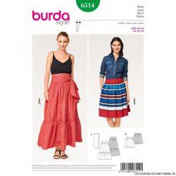 Patron Burda n°6514 : Jupe froncé