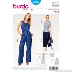Patron Burda n°6516 : Combinaison