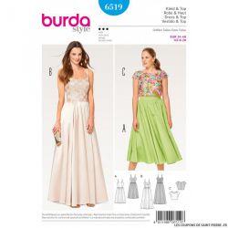 Patron Burda n°6519 : Robe de soirée