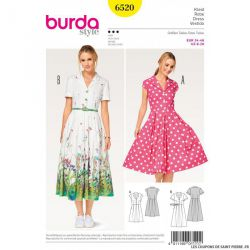 Patron Burda n°6520 : Robe style chemise
