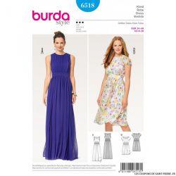 Patron Burda n°6518 : Robe élégante