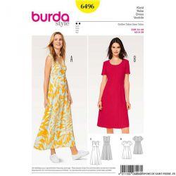 Patron Burda n°6496 : Robe cache-coeur