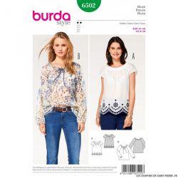 Patron Burda n°6502: Blouse