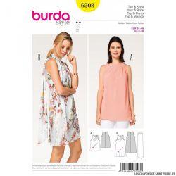 Patron Burda n°6503 : Haut & Robe oblique