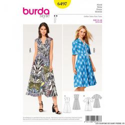 Patron Burda n°6497: Robe dansante