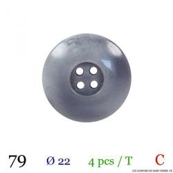 Tube 4 boutons gris Ø 22mm
