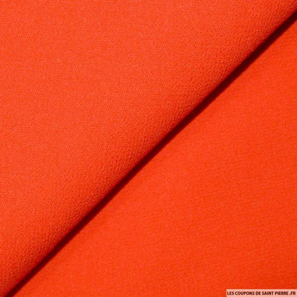 Tissus Crêpe 100% laine rouge vif