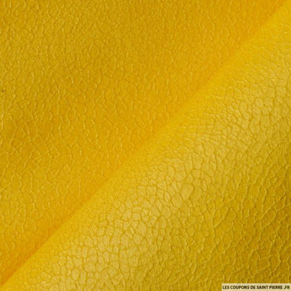 Suédine aspect cuir jaune impérial