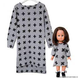 Patron Modes & Travaux - Robe graphique pour fillette et poupée