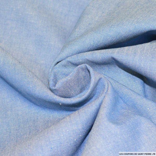 Tissu Jean's chambray coton bleu clair