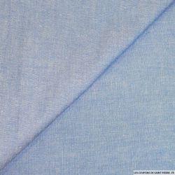 Jean's chambray coton bleu clair