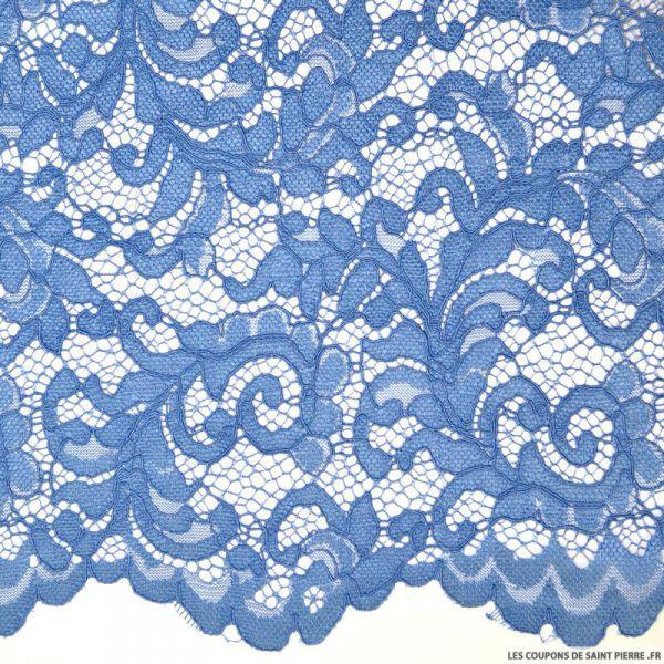 Tissu Dentelle festonnée bleuet