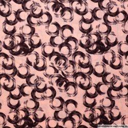 Coton imprimé vinyle rose