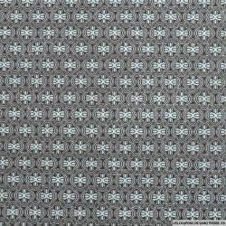Tissu Coton imprimé vintage ciel