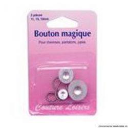 Boutons magiques métal X3 assort. 11, 15 et 19 mm