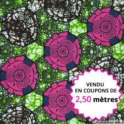 Wax africain chou rose vendu en coupon de 2,50 mètres