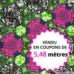 Wax africain chou rose vendu en coupon de 5,48 mètres