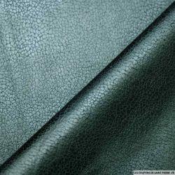 Tissu Suédine aspect cuir bleu canard