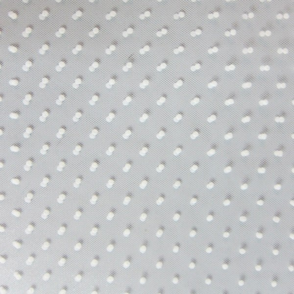 Tulle plumetis blanc sur blanc au mètre