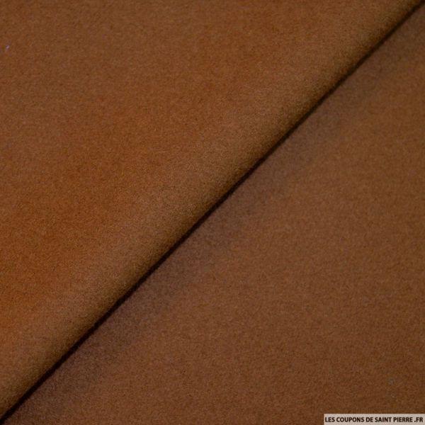 Tissu 100% cachemire double face marron