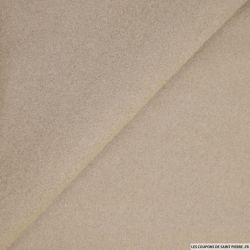 Tissu 100% cachemire double face beige