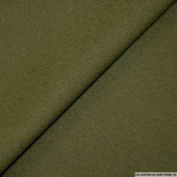 Tissu 100% cachemire double face kaki