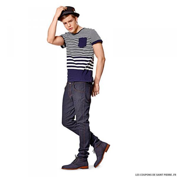 Patron n°7138 : Pantalon Jean's COUSU MAIN