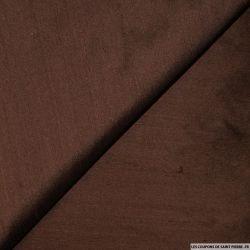 Soie sauvage / Doupion de soie marron foncé