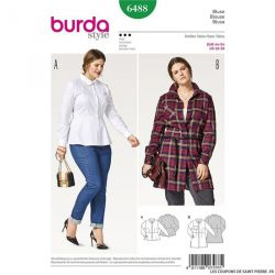 Patron Burda n°6488 : Chemise femme