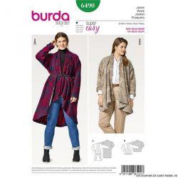 Patron Burda n°6490 : Cardigan/Gilet