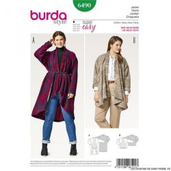 Patron Burda n°6490 : Blouson