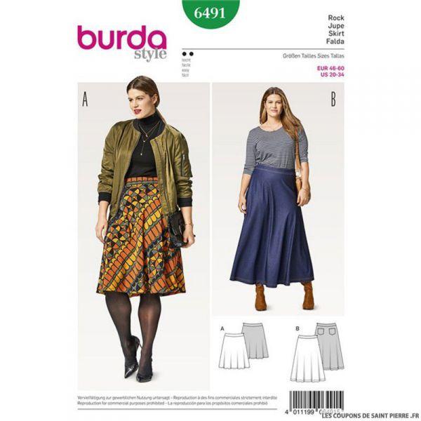 Patron Burda n°6491:  Jupe cloche