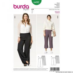 Patron Burda n°6492 : Pantalon à coulisse