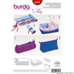 Patron Burda n°6493 : trousse ou sac à rouler