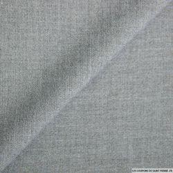 Double Crêpe Polyester gris clair chiné